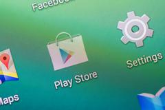 Google Play Store Application Stock Photos