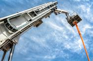 Stock Photo of hydraulic man lift