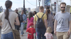 Summer In London - Southbank restaurant Stock Footage