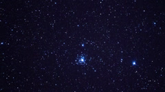 A zoom-in on a globular star cluster. - stock footage