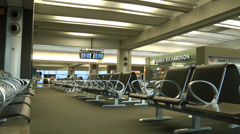 Empty Airport passengers lounge - stock footage