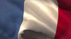 Digitally generated france flag waving - stock footage