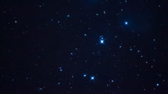 Pan across the Pleiades star cluster Stock Footage