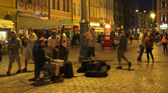 Jazz band on street Stock Footage