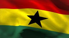 Digitally generated ghana flag waving - stock footage