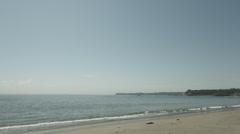 Miura beach, non color graded 4K (3840x2160) Stock Footage