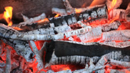 Stock Video Footage of Live coals seamless loop background