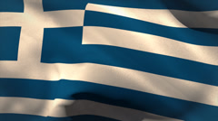 Digitally generated greece flag waving - stock footage