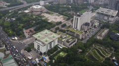 Shanghai People's Park Aerial View - stock footage