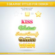Set of various graphic styles for design. Stock Illustration