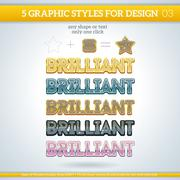 Set of brilliant graphic styles for design. - stock illustration