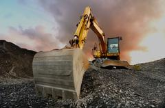 Quarry excavator Stock Photos