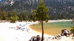 Sand Harbor Beach, Lake Tahoe Nevada Stock Footage