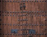 Stock Photo of baroque wooden door