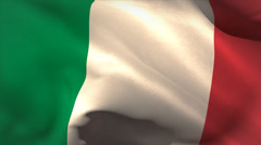 Digitally generated italy flag waving Stock Footage