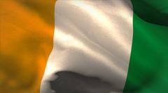 Digitally generated ivory coast flag waving Stock Footage