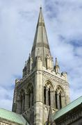 spire of chichester cathedral. england - stock photo
