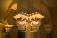 Cordoba omeyan baths capitals Stock Photos