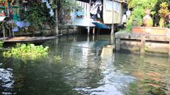 Klong Lat Mayom Canal Floating Market at Bangkok Thailand Stock Footage