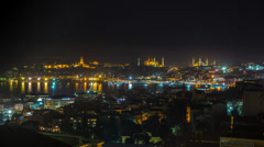 Wide Skyline View of istanbul and Bosphorus Stock Footage