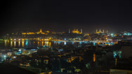 Stock Video Footage of Wide Skyline View of istanbul and Bosphorus