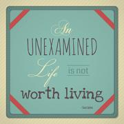 An Unexamined Life is Not Worth Living Stock Illustration