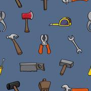 Cartoon Building Tools Seamless Background Stock Illustration