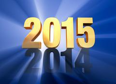Stock Illustration of 2015 replaces 2014