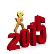 Stock Illustration of economy improves in 2015
