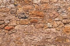 Old Rustic Stonewall Background - stock photo