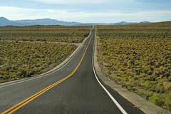 long road to access to grand canyon - stock photo
