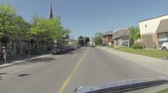 Camera car in Guelph, Ontario Stock Footage