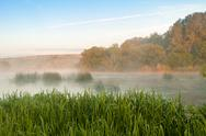 Stock Photo of morning mist over the river