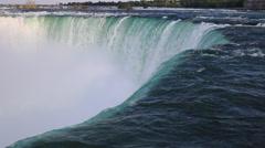 Niagara Falls Background - Horseshoe Falls Stock Footage