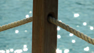 Stock Video Footage of The Dock and rope detail