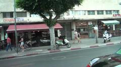 Videosurvey of evening Tel aviv Stock Footage
