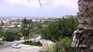 Stock Video Footage of Paphos distant view of coast from high vantage point