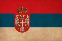 Stock Illustration of serbia flag drawing ,grunge and retro flag series