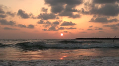 Sunset of a sun in Tel Aviv Stock Footage