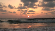 Stock Video Footage of Sunset of a sun in Tel Aviv