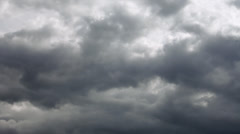 Amazing dramatic gloomy view of the oncoming low clouds without any sunshine. Stock Footage