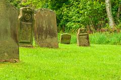 Stock Photo of Graveyard peaceful resting Place