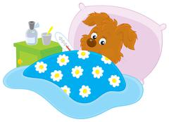 Stock Illustration of Sick puppy