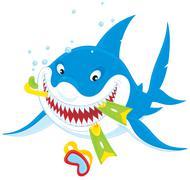 Great white shark Piirros
