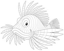 Scorpion fish Stock Illustration