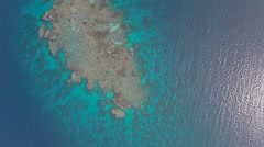 Aerial shot of coral reef passage, gangway - Shaab Rumi, Sudan, TWO CLIP IN ONE! Stock Footage