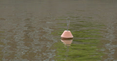 A buoy floating in the sea 4k fs700 odyssey 7q Stock Footage