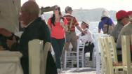 Stock Video Footage of Tourists of Mykonos Island in Greece