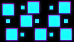 Color Cubes Mapping Stock Footage