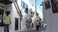 Stock Video Footage of Towntown in Mykonos Island in Greece